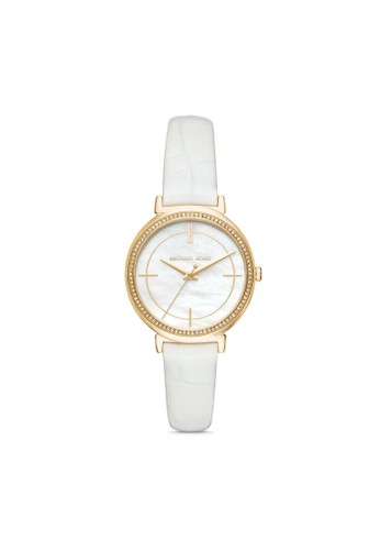 MICHAEL KORS white Michael Kors Cinthia - Multicolor Dial 33 mm -  Leather - Analog - Jam Tangan Analog Wanita - MK2662 CFD2DAC030B662GS_1