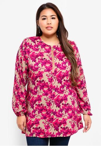 BYN pink Plus Size Muslimah Blouse F7C8DAAAE2C78BGS_1