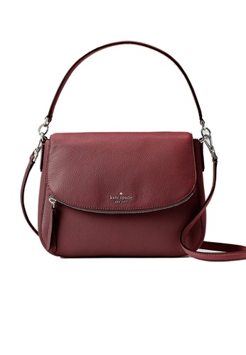 Kate Spade red Kate Spade Jackson Medium Flap Shoulder Bag wkru6249 Cherrywood 1510CAC5D4D3B9GS_1