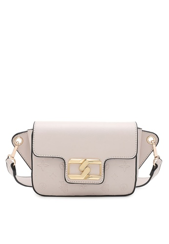 Swiss Polo white Logo Metal with Embossed Crossbody Bag C4309ACFB71076GS_1