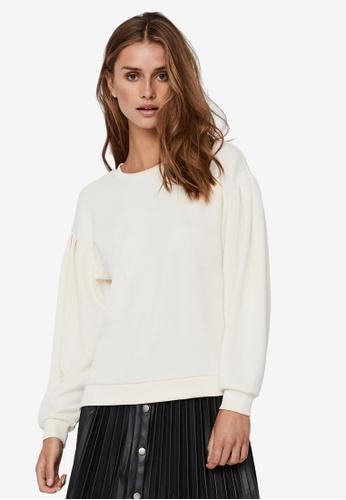 Vero Moda beige Ena Sweatshirt 4C65FAA70C8EF6GS_1