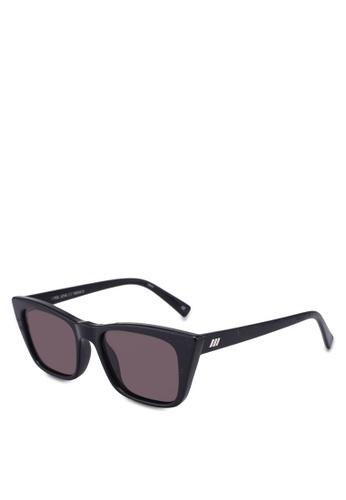 Le Specs black I Feel Love Sunglasses 73D3AGLA8BFBC5GS_1