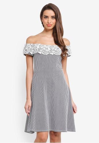 Dorothy Perkins multi Stripe Bardot Dress 97FEEAA0CF9751GS_1