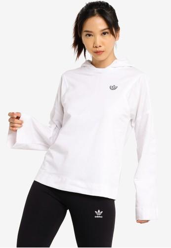 ADIDAS white adidas hoodie 22E26AAEC761E9GS_1