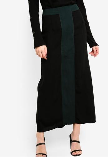 Zalia black and green Colour Block Tailored Skirt 9C889AA98243FCGS_1