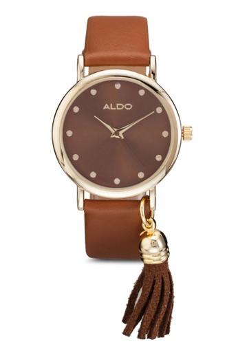 Glelaesprit 童裝ng 流蘇吊墜圓框手錶, 錶類, 女裝手錶