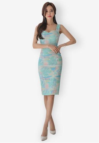 Sunnydaysweety multi New Sleeveless Sweetheart One Piece Dress A05162811 0E860AAC9EF3A2GS_1