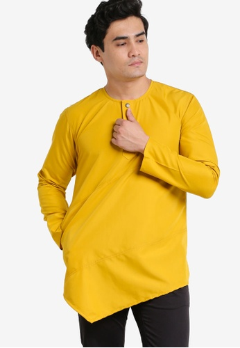 Amar Amran yellow and gold Kurta Al Fattah AM362AA70JXDMY_1