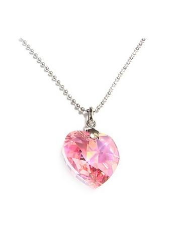 CELOVIS pink M-Series Swarovski® Crystal Heart Pendant  (Rose) CE446AC51LVWMY_1