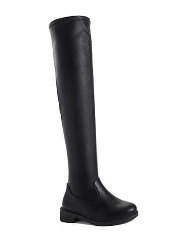 Twenty Eight Shoes black Low Heel Skinny Over Knee Boots VB6661 157D5SH879B631GS_1