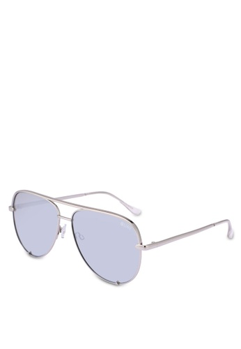 Quay Australia silver HIGH KEY Sunglasses 1F9D1GLEFC06D4GS_1
