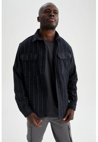 DeFacto blue Long Sleeve Shirt 3E8F0AACEDF6BDGS_1
