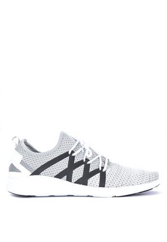 Fila grey Accolade Lite Running Shoes A3173SHB5847B4GS_1