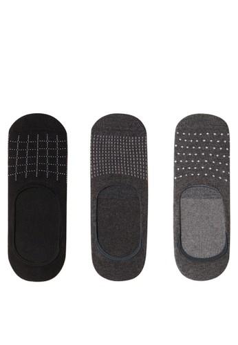 Mango Man grey 3 Packs Invisible Socks BFA82AACB2A7A7GS_1
