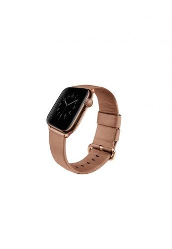 Uniq pink and beige Uniq Mondain Apple watch 4 Genuine Leather strap 40mm - Coral Pink 5022FESC037B86GS_1