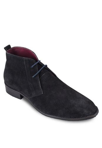 雙眼zalora 心得繫帶皮革踝靴, 鞋, 鞋