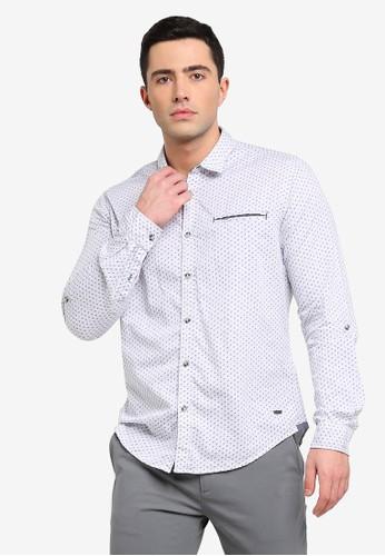 ESPRIT white Woven Long Sleeve Shirt AE50DAAECBD71DGS_1