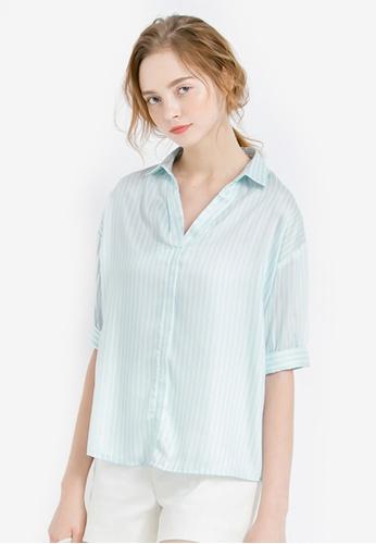 Kodz blue Tailored Collared Shirt 90C00AADDA9EA8GS_1