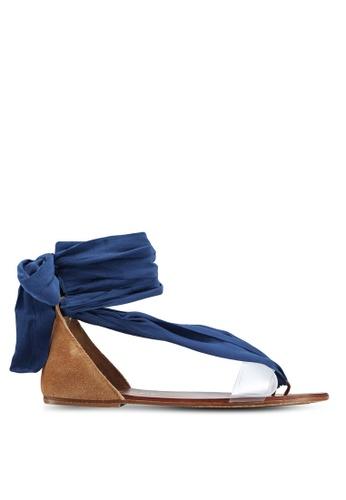Free People blue Barcelona Wrap Sandals A7F2BSH3A6DC81GS_1