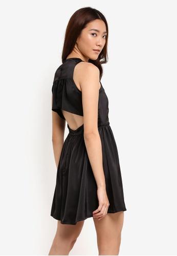 Something Borrowed black Ruffle Edge Cut Out Dress 1A90BAA15BEECDGS_1