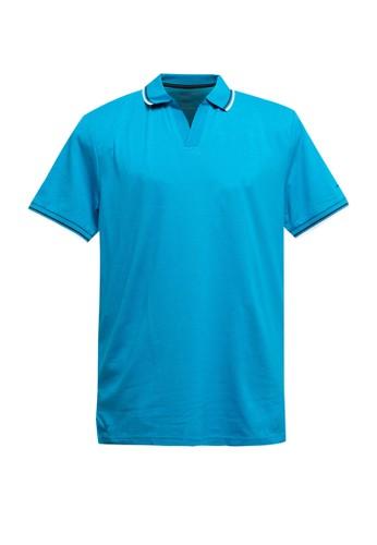 Giordano blue Men's V Neck Polo 69488AA8D9281FGS_1