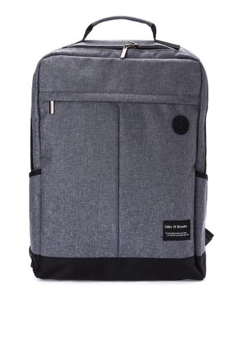 Giles N Brooks grey Kyung-soo Backpack GI308AC0KFXGPH_1