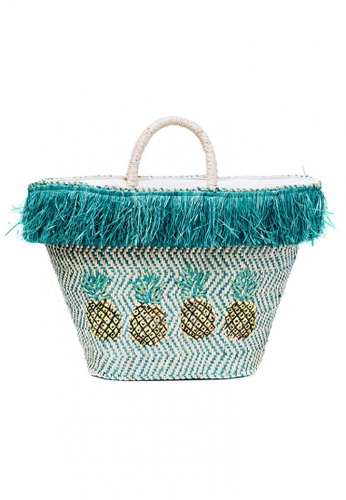 Style Cat beige Style Cat Calaguas Pineapple Woven Basket AE4AAAC36FB25EGS_1