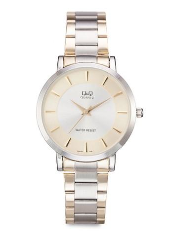 Q&Q Q944J401Y 雙色纖薄鍊錶, 錶類,esprit分店 飾品配件