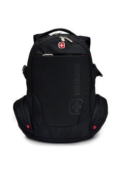 harga VERNYX - Men's Swissgear Visseo Backpack Bag TSB7 Black - Tas Ransel Pria Zalora.co.id