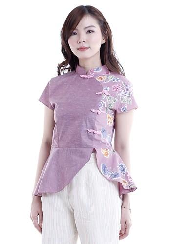 DhieVine Batik purple and multi Asmiani Encim Wungu Top Cheongsam 5F606AAD4AAE3AGS_1