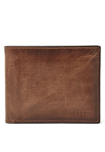 Fossil brown Fossil Derrick RFID Passcase ML3771200 FO164AC27VMAMY_1