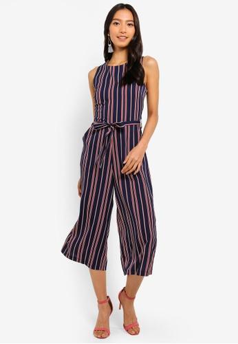 8c3759269ef Buy Mela London Nautical Stripe Culotte Jumpsuit Online on ZALORA Singapore