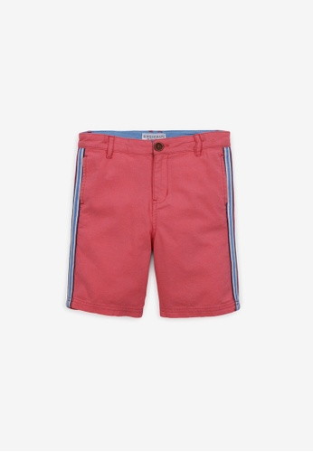 Gingersnaps red Boys Side Stripes Chino Shorts CC0DDKA072090EGS_1