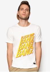 Flesh IMP 白色 Bang 文字設計TEE FL064AA22CJXMY_1