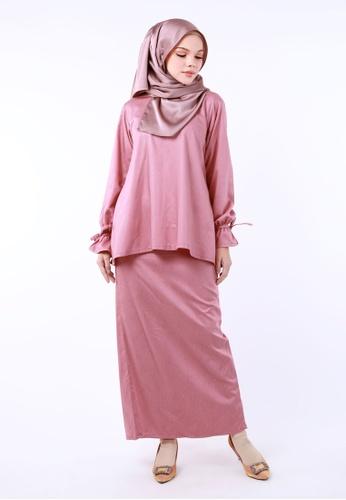 Inhanna pink INDRA Kurung Kedah Pink B64E5AA7906F3DGS_1