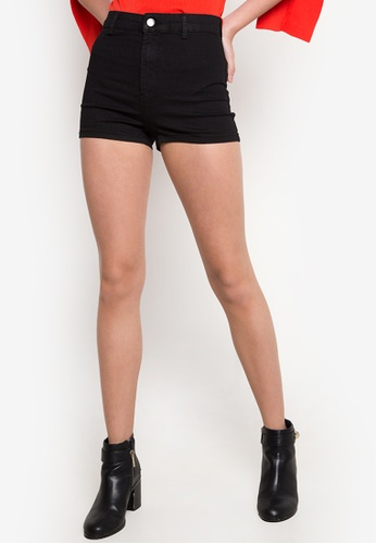 TOPSHOP black Moto Joni Stretch Shorts TO099AA96NKHPH_1