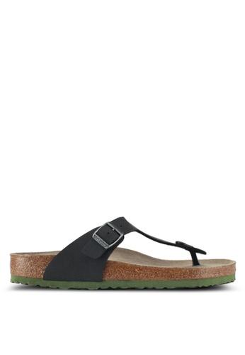 Birkenstock black Gizeh Soft Footbed Desert Soil Camou Sandals 5201CSH866AF83GS_1
