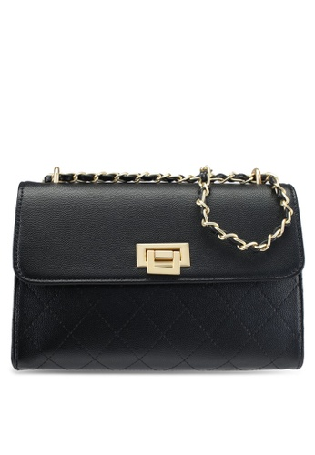 ZALORA black Quilted Chain Evening Shoulder Bag DB9BEAC9C4AFC1GS_1