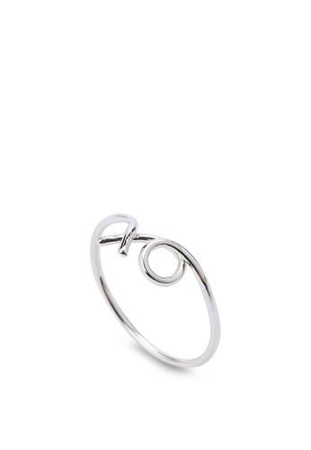 Wanderlust + Co silver XO Silver Ring WA415AC18QKNMY_1
