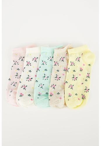 DeFacto multi Woman 5-pieces Low Cut Socks D7841AA098E94BGS_1