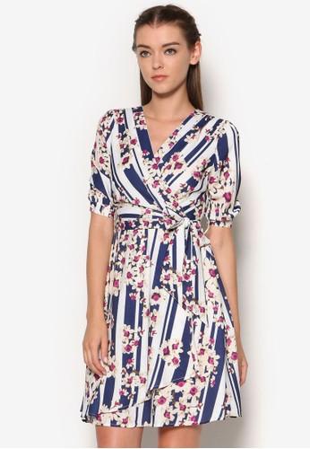 野蘭花裹飾洋裝, esprit官網服飾, 洋裝
