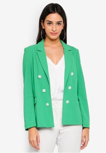 TOPSHOP green Bonded Jacket 7C2ECAA88F13F9GS_1