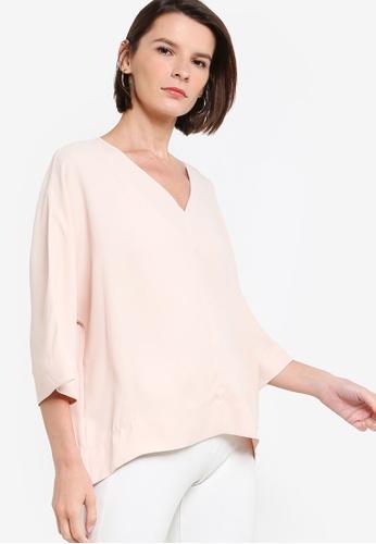 ck Calvin Klein pink FLUID MICRO CREPE TOP BF75DAAE660C41GS_1