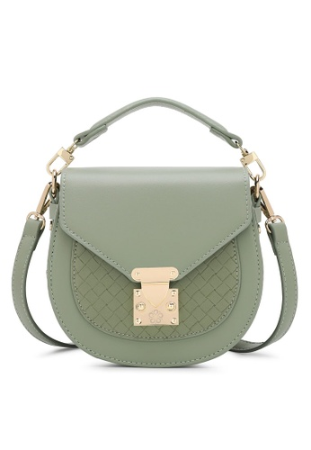 Wild Channel green Woven Sling Bag 1D516AC477C235GS_1