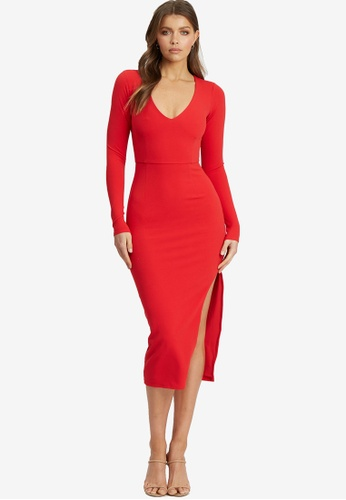 Chancery red Theora Dress 6E39CAA70A6B2EGS_1