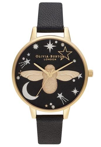 Olivia Burton black Olivia Burton Ramadan  Black Women's Watch (OB16GD21) 2DF75AC6408FAAGS_1