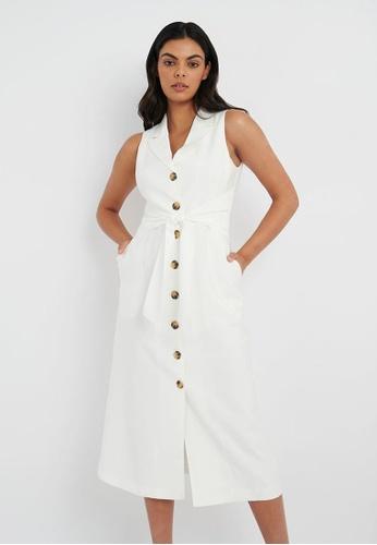 FORCAST white FORCAST Miah Maxi Shirt Dress 045E7AA41A227DGS_1