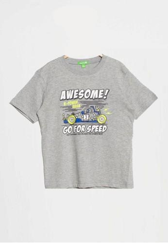 Bossini grey Bossini Kids Boy T-Shirt H Grey (83081400097) 598F1KA6A42304GS_1