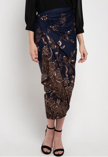 Rianty Batik blue Rok Lilit Samantha 69ACFAA936D411GS_1