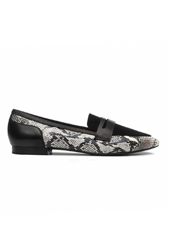 Byford black and white Quorn Pointed Toe Flats 4D6B2SHC1A86F5GS_1